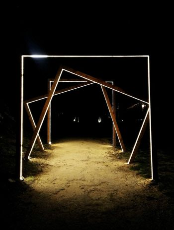 Path Lights Lines Path Beach Party Secret Night HUAWEI Photo Award: After Dark Symmetry Illuminated Abstract Triangle Shape
