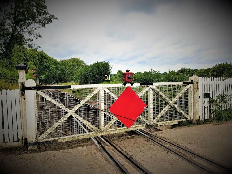 Tenterden Town Station K&ESR 2017 2017 2017 Year K&ESR K&ESR Railway Level Crossing Outdoor Pictures Railways Rother Valley Railway Steam Railways The Rother Valley Railway Tourist Attraction  Travel Photography Architecture Cloud - Sky Day No People Outdoor Photography Outdoors Protection Red Safety Sky Travel And Tourism Travelphotography Tree
