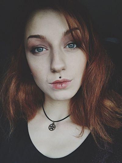 Portrait Redhead Selfie