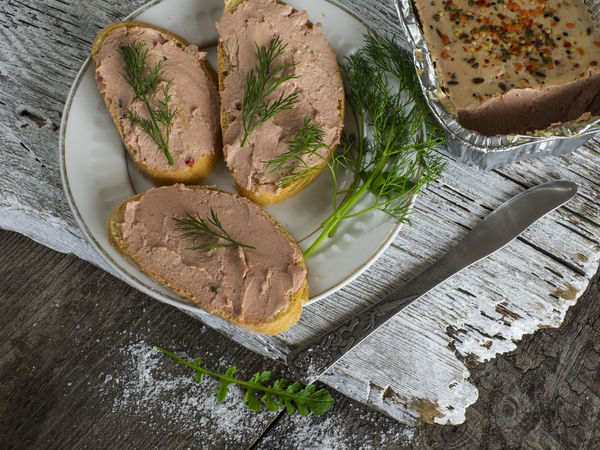 sandwiches with liver pate on old weathered wooden background Background Close-up Day Food Food And Drink Freshness Healthy Eating Horizontal Indoors  Knife Liver No People Old Pate Ready-to-eat Sandwiches Table Weathered Wooden