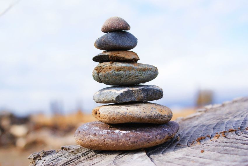 Comment if it's good 😊 Stone - Object Pebble Stack Tranquil Scene Nature Zen-like Rock - Object Sky Close-up No People Beach Beauty In Nature Day Outdoors Beauty In Nature Nature Balance Countryside Fall Edited Blur Focus Rough Grey Cool
