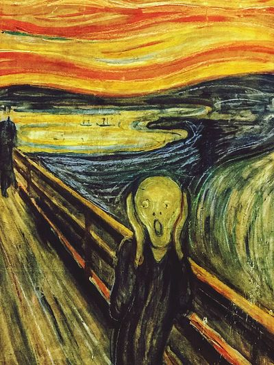 E. Munch/ The Scream Edvard Munch The Scream Art And Craft Full Frame No People Backgrounds Close-up Indoors  Day