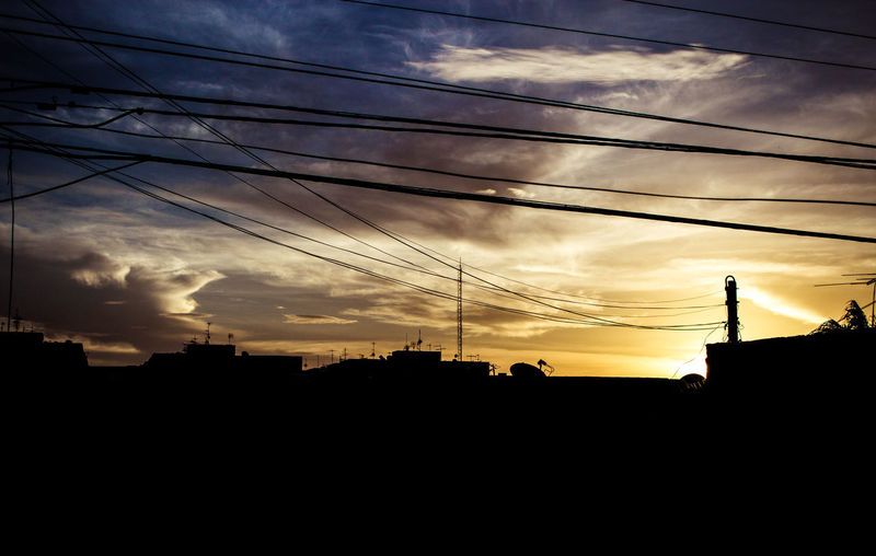 Architecture Building Exterior Built Structure Cable Cloud - Sky Connection Electricity  Electricity Pylon No People Outdoors Power Line  Power Supply Scenics Silhouette Sky Sunset Technology Telephone Line
