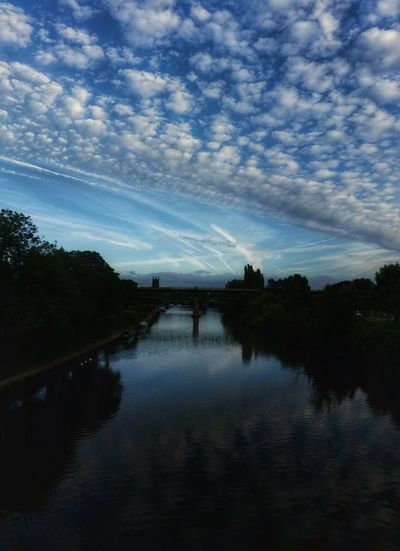 My Favourite Place Last evening the sky seemed to be painted by the best ever Abstract Artist. I wish I could post a 360% view of it for you! Worcester Cathedral River Severn Reflection Beauty In Nature River Severn Sky_collection Reflection Atmospheric Mood EyeEm Gallery England 🌹 Bridge - Man Made Structure EyeEm Nature Lover Cloudscape Dreamy Sky Diminishing Perspective Landscape_Collection Landscape_photography Head In The Clouds My Favorite Place My Cloud Obsession☁️ Exceptional Photographs Silhouette Cloud - Sky Malephotographerofthemonth