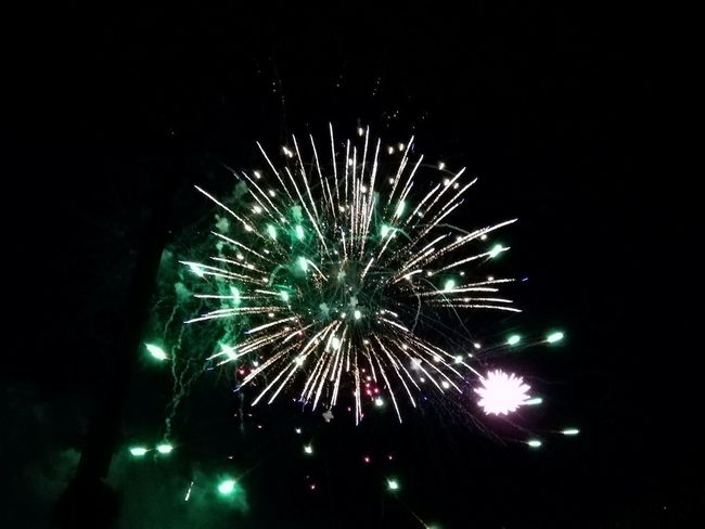 Celebration Night Firework - Man Made Object Event Firework Display Illuminated 14thJuly 14 Juillet 2017 Multi Colored Firework Celebration Funfair