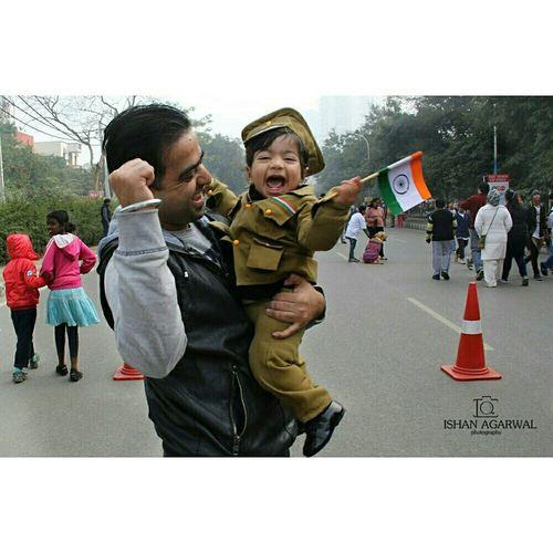 India Proud Republicday Everyday Joy Salute To The Flag Salute Delhi Gurgaon Wavingflag Cutekid