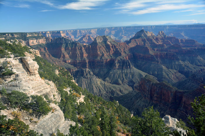 Grand Canyon Open Spaces Peaceful Travel Destinations Landscape Mountains And Sky Road Trip Day Sky Beauty In Nature Outdoors Roadtrip Boulders Mountain Nature