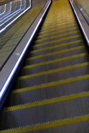 Transportation Railing Escalator Pattern No People Metal The Way Forward Direction Architecture Technology Diminishing Perspective High Angle View Futuristic Convenience Staircase Day