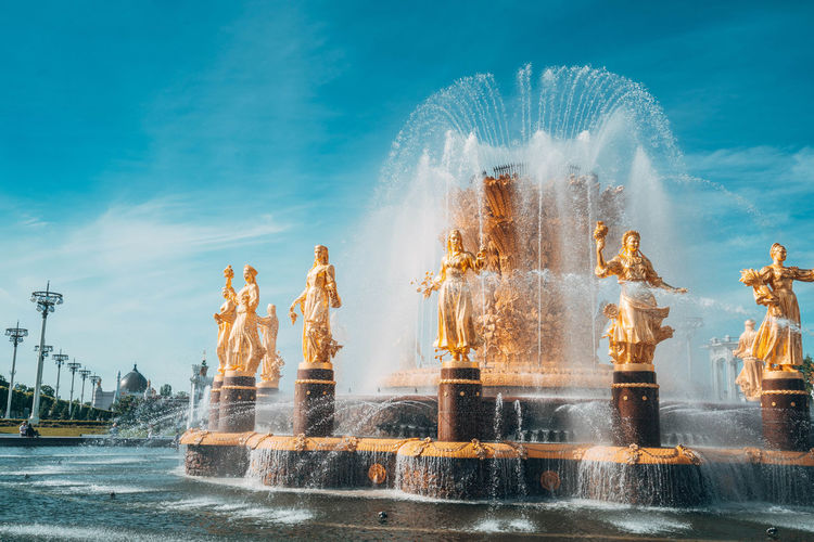 View of fountain against sky