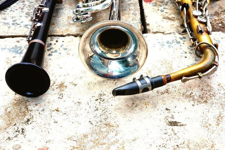 Trumpet Musical Instrument Music EyeEm Best Shots High Angle View Close-up Silver - Metal Brushed Metal Black Coffee Drinking Fountain Froth Art Espresso Maker Espresso