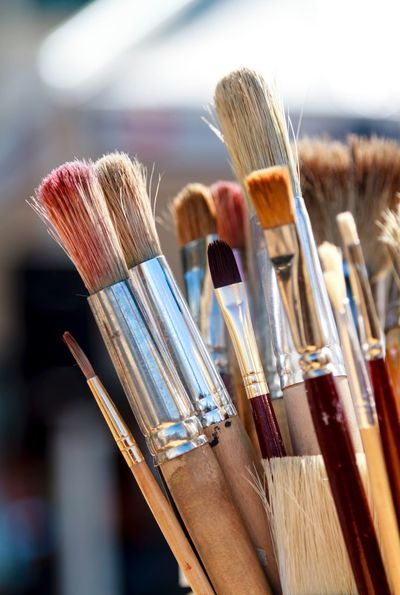 Take a brush Paintbrush Palette Artist Painting Art Paintbrushes In My Studio Paintbrushes Oil Paint Artistic Used Things Multi Colored Studio Colour Of Life Color Palette Artistry Creativity Creative Create Oil Painting Close-up Paint Indoors  Oil Paint No People Art Studio Day