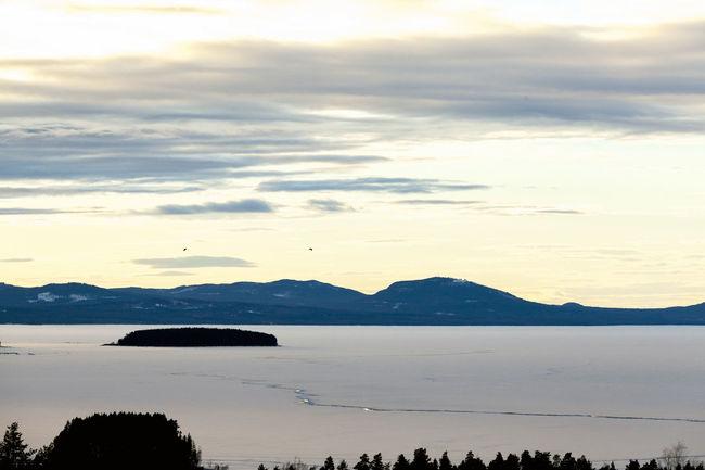 View over lake Dalarna Lake Lake View Lakewood Siljan Snow Snow ❄ Tällberg