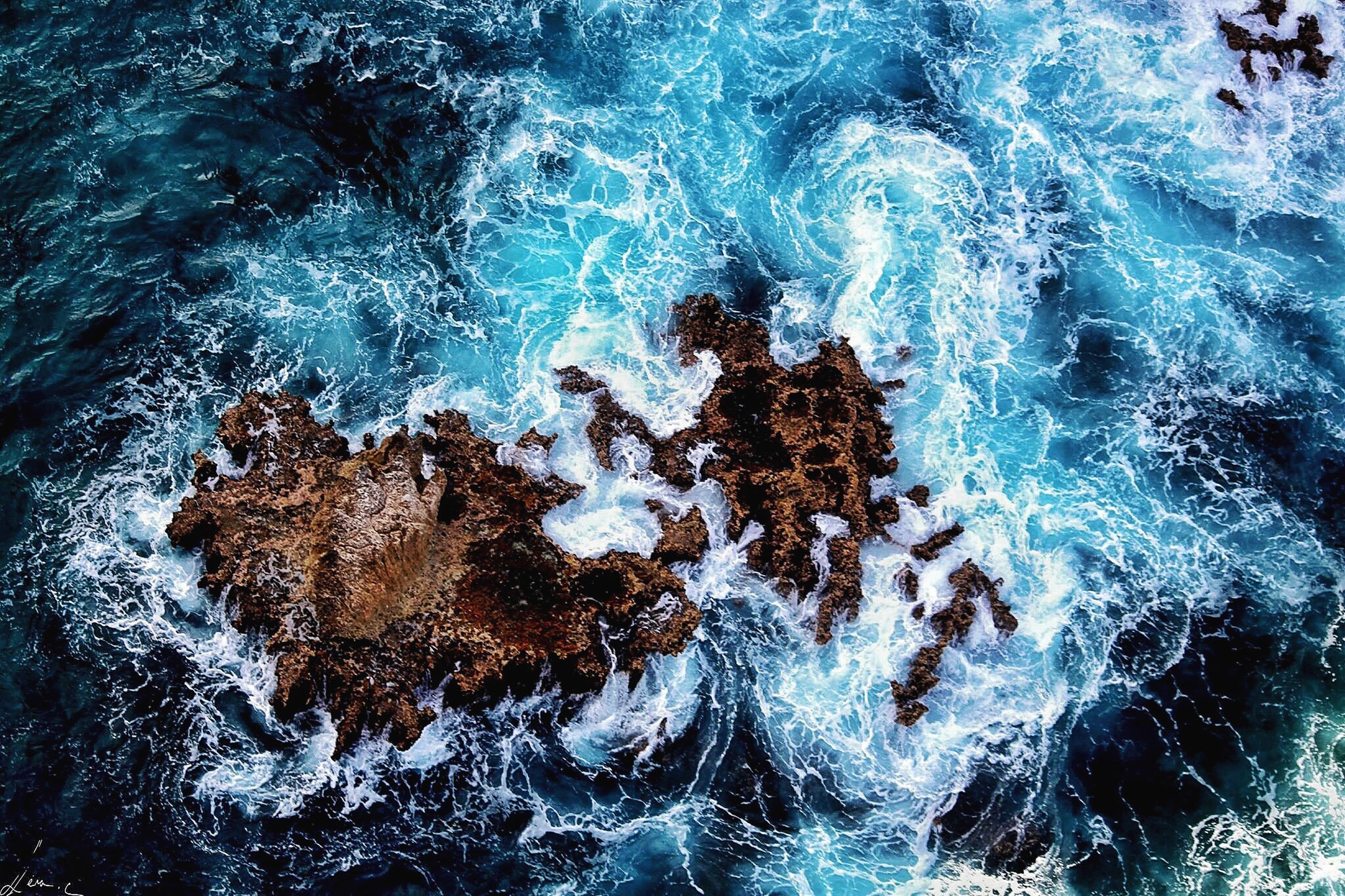 water, waterfront, motion, high angle view, sea, nature, full frame, splashing, rock - object, backgrounds, rippled, surf, beauty in nature, outdoors, day, wave, close-up, no people, power in nature, textured