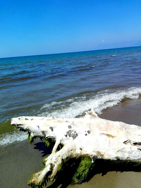 Horizon Over Water Sea Water Tranquil Scene Beach Eboli Summer2016
