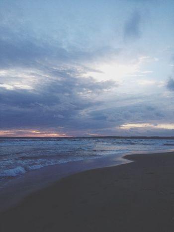 Late night walk . Beach Sunset Powerwalk Hello World