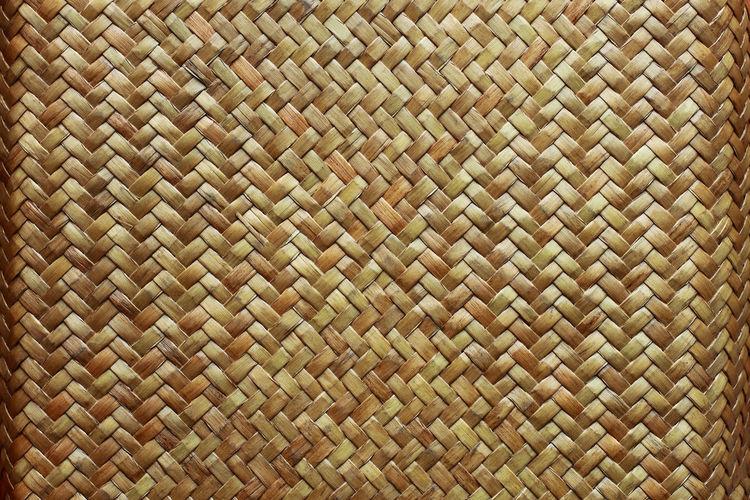 Full frame shot of wicker pattern