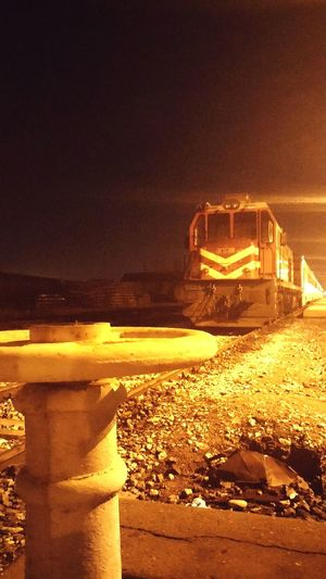 Tren Istasyon Gece Alaşehir TCDD