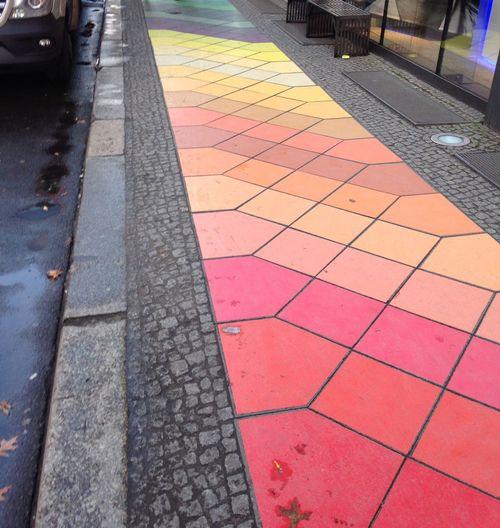 Colours Colors Sidewalk Berlin Gehweg Farbenspiel Bunt Urban Adidas