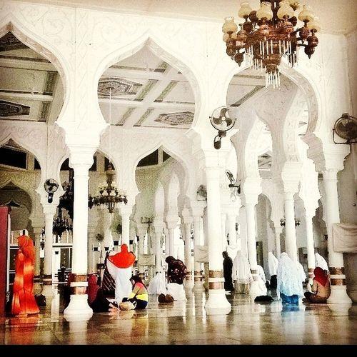 The inside part of Baiturrahman Mosque Baiturrahman Mosque Aceh INDONESIA Architecture Islam Moslem BeautifulIslam