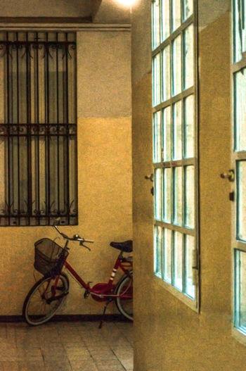 Art Photography Colour Your Horizn Fine Art Photography Art Photgraphy Atmospheric Mood Bicicleta Bicycle Corridor Indoors