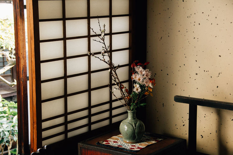 Japanese style flower pot IKEBANA Japan Japanese  Japanese Culture Flower Home Interior Indoors  Potted Plant Vase Window