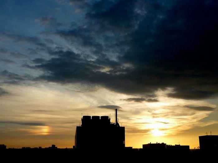 Sky And Clouds Sunset Sun Dog