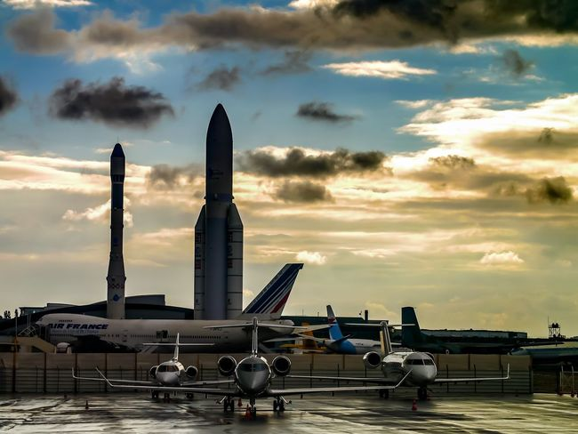 Aerospace Industry Airport Airport Runway Architecture Ariane Building Exterior Built Structure Business Finance And Industry Cloud - Sky Day No People Outdoors Passenger Boarding Bridge Sky Sunset Transportation Urban Skyline Fresh On Eyeem  Exploring Style Canon FD Finding New Frontiers
