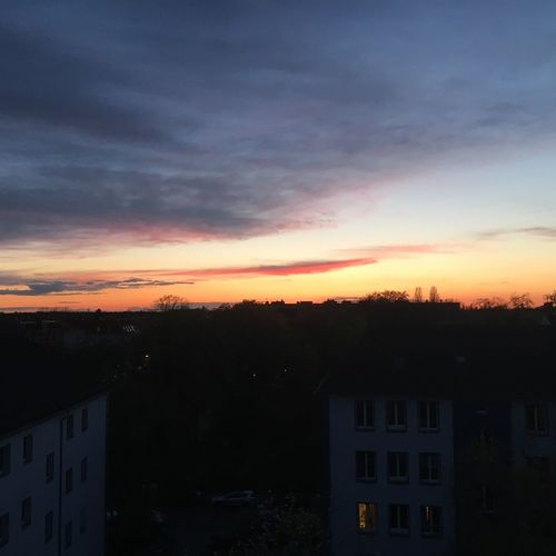Sunset In Berlin City Life Sky