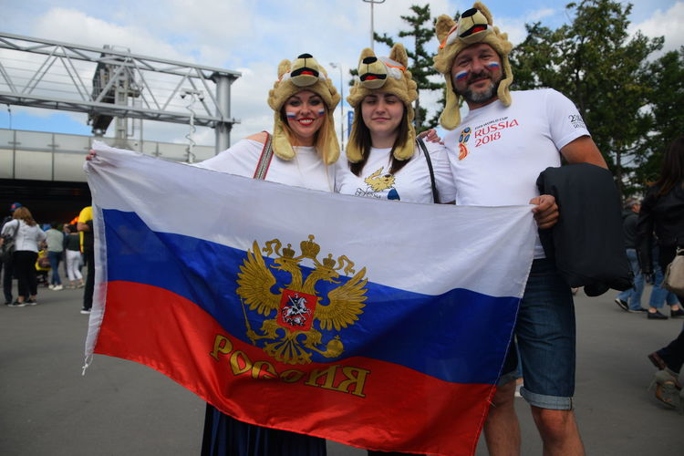 Contact me : roman@alyabev.com Fifa Football Moscow Adult Architecture Day Emotion Fan Fans Fifa18 Fifa2018 Flag Front View Group Of People Happiness Holding Incidental People Lifestyles Men Nature Outdoors Patriotism People Portrait Real People Togetherness Women