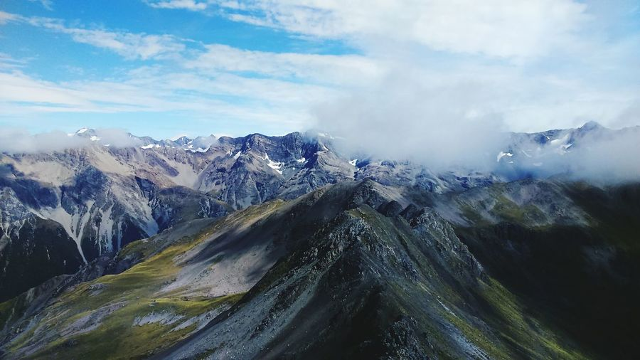 Scenic View Of Mountains At Arthurs Pass National Park In Winter