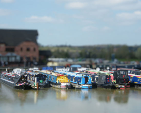 Barges Boat Canal Basin Canal Boats England English Countryside Marina Moorings  Narrow Boat Narrow Boats Nature Outdoors Summertime Tiltshift Tranquility Water Waterfront British Waterways Working Boat Canal