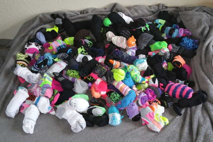 I've told a few of you that I have an insane amount of socks... This isn't even all of them 😂😆Multi Colored High Angle View Large Group Of Objects Variation No People Indoors  Choice Mysocks Socks Socksoftheday Socks !  Sockslove Sockslover SOCKS!!! Socksmania