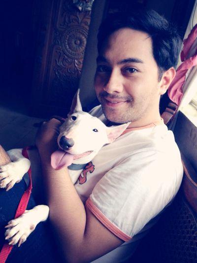 Bawal maligo #momoko #bull #terrier #dog #paws