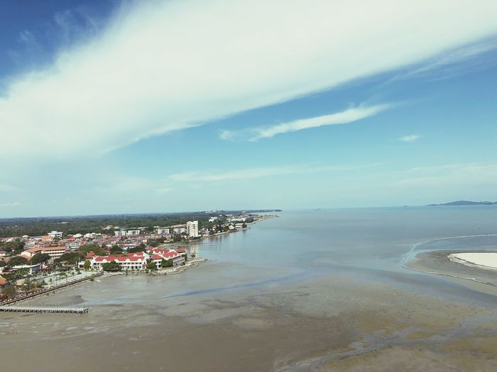 Up and above Tourism Malacca Straits Of Malacca Water Sea Sky Beach Cloud - Sky Land Beauty In Nature Horizon Over Water Nature Scenics - Nature Tranquil Scene Outdoors