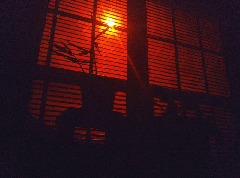 solar eclipse lens Solar No People Low Angle View Red Indoors  Illuminated Night Built Structure Sky