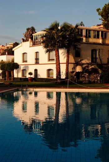 Early Morning Hotel Sicilia Sicily Italian Italy Built Structure Building Exterior Water Architecture Reflection Tree Plant Building No People Swimming Pool Pool Outdoors Day