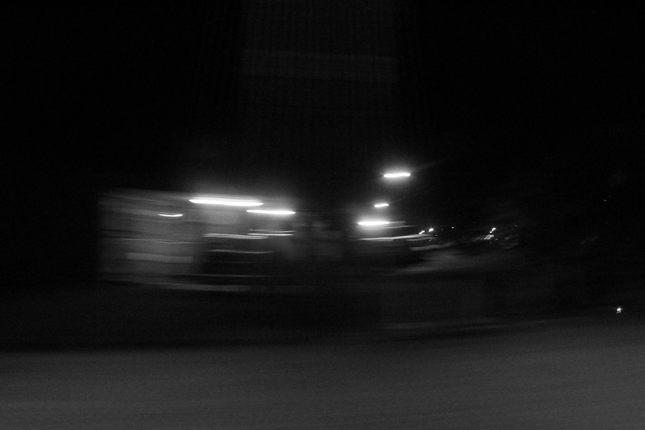 illuminated, blurred motion, night, speed, transportation, motion, no people, road, outdoors