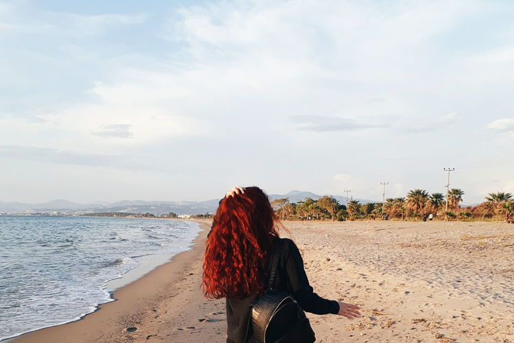 Huzur Sky Sand Beach Sea Nature Relaxing Hair Freedom Happiness Day Peaceful View Messyhair Redhair Seaside