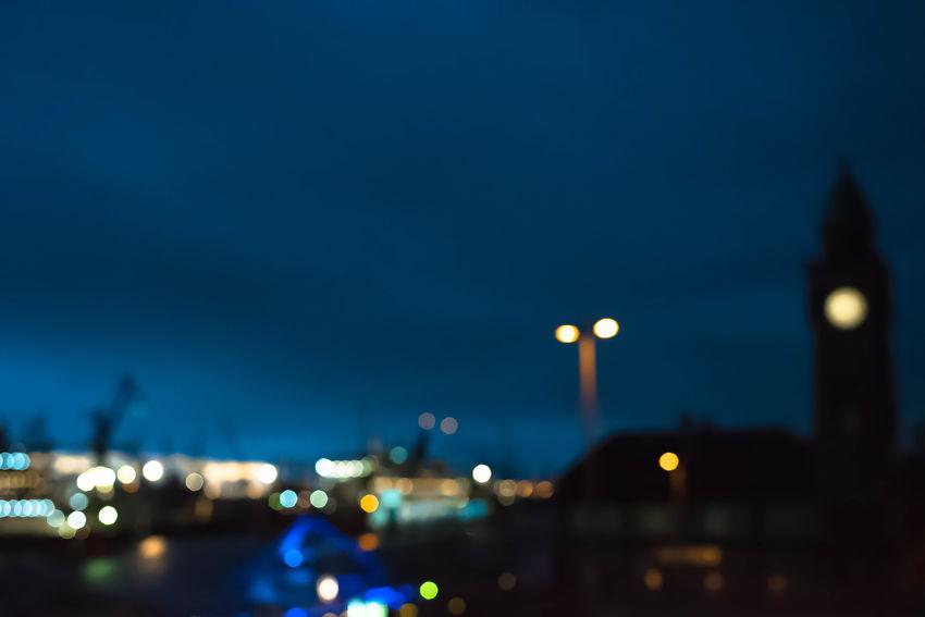 monday blues From My Point Of View Hamburg Hamburg Harbour Harbor Industry Landungsbrücken  Night Lights Nightphotography Nikon Open Edit Silhouette St. Pauli Blurred Lights Blurry Citylights Darkness And Light Eye4photography  Illuminated Light And Shadow Monday Blues Nautical Night Urban Urban Industry Urban Landscape