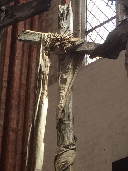 Built Structure Close-up Cross Day Deterioration Jesus Low Angle View No People Old