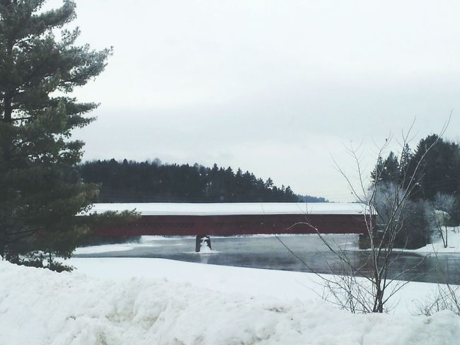 Covered Bridge in Wakefield Quebec. How's The Weather Today? - 30C this morning! TooCold Brrrr!