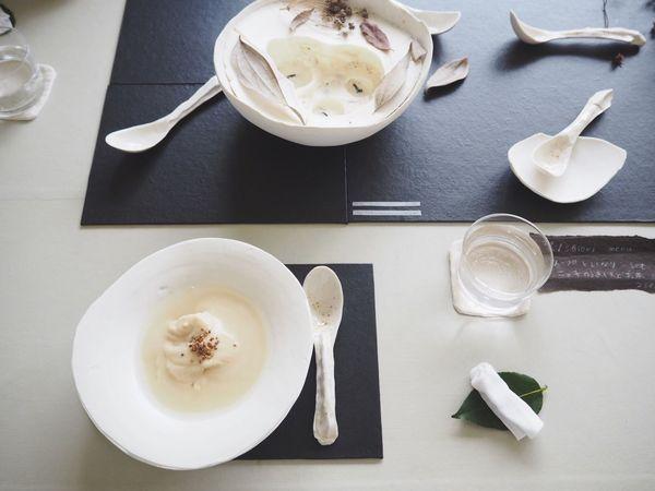 Lunch いなり寿司 Soup Soup Bowl 器 陶器