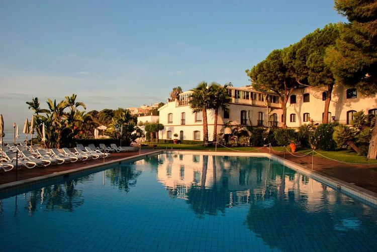 Morning Morning Light Sunrise Sicilia Sicily Italian Italy Hotel Water Tree Building Exterior Architecture Built Structure Plant Sky Reflection Nature Building Pool No People Swimming Pool Outdoors Day Luxury