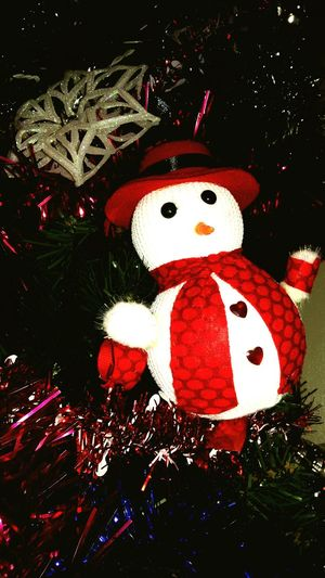 Snowman Christmas Time Christmas Tree Mychristmastree Christmas Ornaments Red Photography