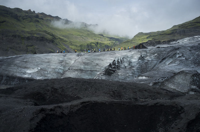 How Do You See Climate Change? Iceland Glacier Skaftafell Defrost Globalwarming