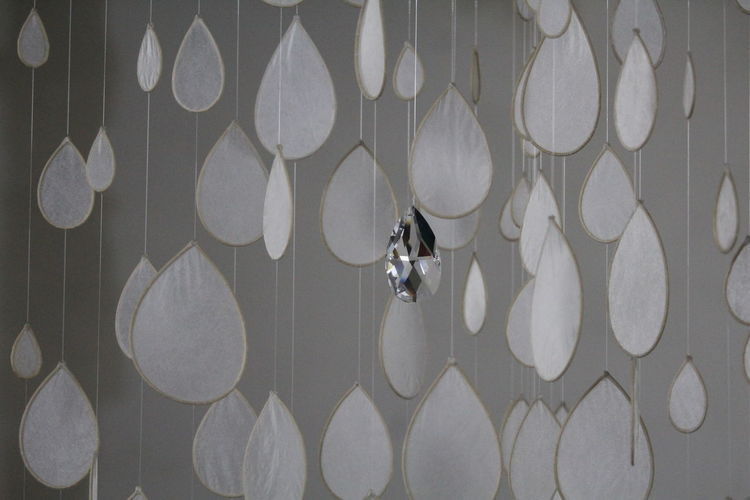 Full frame shot of patterned hanging on wall