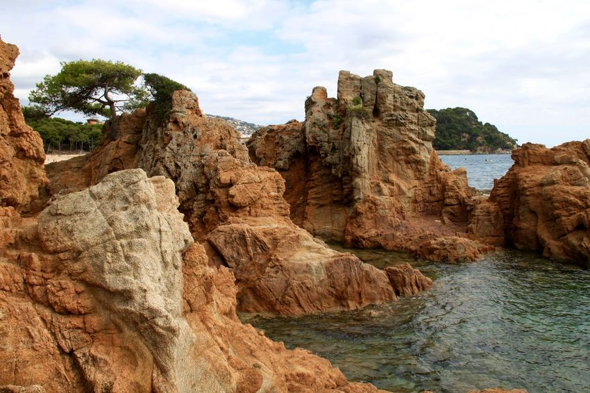 Beach Beauty In Nature Coastline Landscape Lloret De Mar Lloretdemar Nature No People Physical Geography Platja De Fenals Rock - Object Rock Formation Scenics Sea SPAIN Travel Destinations Water