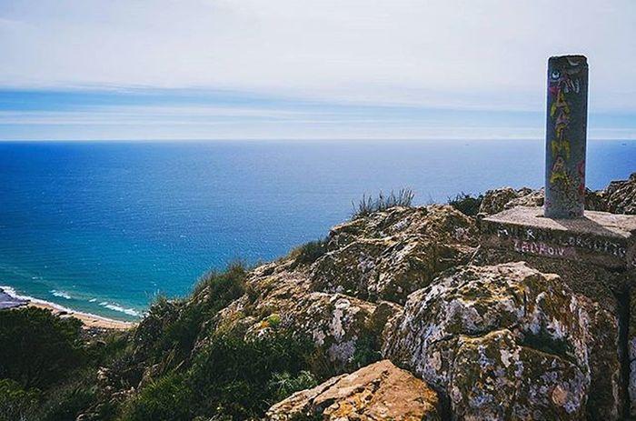 The top of 'lion mountain' is marked by this cement pillar. A great hike rewards you with amazing views of the Mediterranean Sea, and the Mar Menor behind. La cima del cabezo de la fuente en Las Barracas te regala estas vistas si haces el esfuerzo de subir. Vistas del mediterráneo en un lado, y el mar menor el otro. Murcia SPAIN Murciagramers Ig_murcia Murciamagazine Total_murcia Ok_murcia Estaes_murcia Shotsofspain Lovespain Ig_spain Ok_spain Ig_spain_ Spainiswonderful Total_spain Wu_spain Spain_beautiful_landscapes Spain_gallery Spain_greatshots Losbelones Mediterranean  Marmenor Instagood Instalike Instadaily photooftheday picoftheday nikon nikonistas beautiful