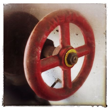 Dirty red wheel. Photography IPhone Photo Of The Day YYC