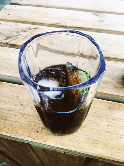 Iced Summer Summer ☀ Hot Day Wood - Material Wood Black Soda Lemon Drink Glass Refreshment Drinking Glass Food And Drink Table Household Equipment Still Life Close-up Cold Temperature Cold Drink Indoors  Glass - Material Frozen Ice Cube Freshness